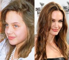 Angelina Jolie; who knew she'd grow up to look like that!