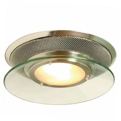 allen   roth�1.5-Sone 90 CFM Brushed Stainless Steel Bathroom Fan with Light--Kind of neat... would it go?