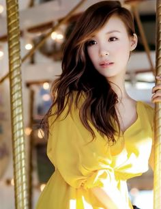 Tiffany Hwang (SNSD) for Vogue Girl Korea in a gorgeous yellow summer dress