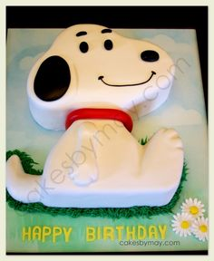Looove Snoopy and the Peanuts gang!! This Snoopy Birthday Cake was made for a very special birthday and a Snoopy fan.   Kept it simple not t...