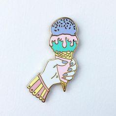 Ice Cream Addict Lapel Pin