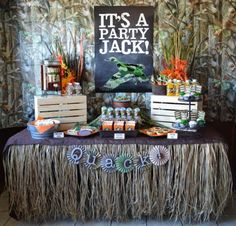 Duck Dynasty Camoflauge Hunting Boy Themed Party Planning Ideas