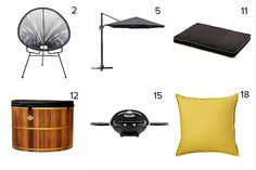 Get the look - Alex & Corban's Backyard - The Block NZ 2014 - visit blog.curate.co.nz for links to all these products and more