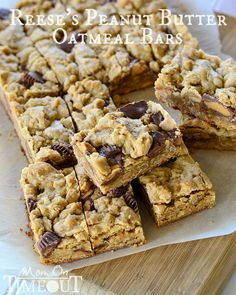Reese's Peanut Butter Oatmeal Cookie Bars - mmm!