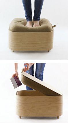 Otomana mesa de cafe, para almacenaje bajo/ camas
