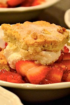 Rosemary Strawberry Shortcake so easy for Easter or Mother's Day.