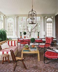 Bright Beautiful Red and White Interior Decor
