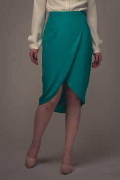 Reese Wraparound Skirt - Named wool - eggplant?