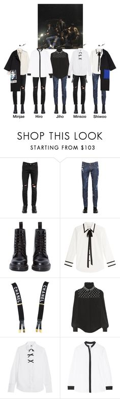 """""""X Weapon ✘ MJ's Spring Break Showcase"""" by x-weapon ❤ liked on Polyvore featuring April 77, Dsquared2, Dr. Martens, Marc Jacobs, Chanel, Alexander McQueen, J.Crew, La Ligne, men's fashion and menswear"""