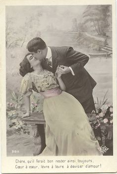 Lovely Edwardian passion. I wonder if this picture was considered scandalous in its time...