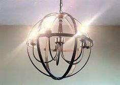 Orb Chandelier DIY using embroidery hoops, any chandelier, and oil ...