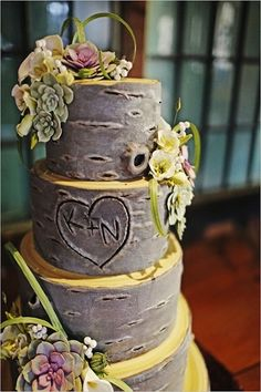 Rustic Country Wedding Cake... Wedding ideas for brides, grooms, parents & planners ... https://itunes.apple.com/us/app/the-gold-wedding-planner/id498112599?ls=1=8 … plus how to organise an entire wedding, without overspending ♥ The Gold Wedding Planner iPhone App ♥