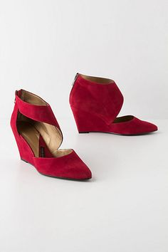 Pointed Cutout Wedges #anthropologie