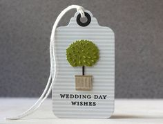 Wedding Day Wishes Tag by Laura Bassen for Papertrey Ink (June 2014)