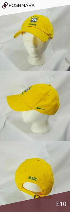 Nike Brasil Brazil Yellow Core Hat EUC Yellow cotton hat. Perfect for summer. Adjustable soft back band. Nike Accessories Hats