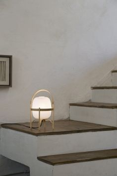 Table lamp Cestita (by Spanish designer Miguel Milá). A lamp with a very Scandinavian feel.