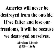 This is the perfect thought for today in Maryland, as our leaders gather to vote on the Governor's abhorrent and onerous gun control bill. If we allow our rights to be stripped, one by one, we lose our strength as a nation. It's not about guns anymore. It's about our rights and liberties.