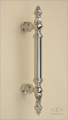 Gabriel Cabinet Pull D1   Polished Nickel   Custom Door Hardware  Www.balticacustomhardware.com
