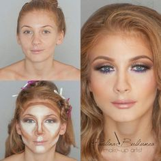 Learn how to make a good face correction! Learn how to make makeup contouring! Tip: always try to obtain an oval, considered to be the perfect face in makeup face.  #makeupconturing #facecorrectionmakeup #makeuptips #learnconturing
