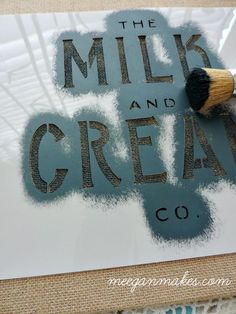 How To Stencil On Burlap can be tricky if you have too much paint on your brush. Dab the brush on a paper towel. When your brush feels almost dry is the key Burlap Wall Decor, Burlap Art, Painting Burlap, Burlap Flag, Burlap Signs, Burlap Fabric, Burlap Crafts, Burlap Pillows, Stencil Painting