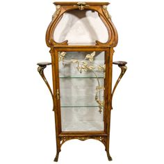 Exquisite Art Nouveau Vitrine by Georges Guerin | From a unique collection of antique and modern vitrines at http://www.1stdibs.com/storage-case-pieces/vitrines/