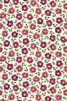 Hellebore China Plum/Green fabric by Emma Bridgewater