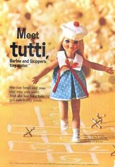 Barbie (Tutti) ad from the 1960s.......