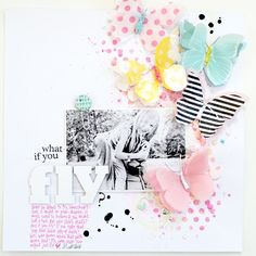 #papercraft #scrapbooking #layout - What if you fly?