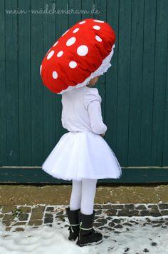 Fliegenpilz Kostüm// Kostümideen für Kinder – zu Fasching, Karneval oder…