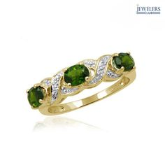 I found this amazing 3/4 Carat Total Weight Genuine Chrome Diopside & Diamond Accent Gold-Plated Sterling Silver Ring at nomorerack.com for 90% off. Sign up now and receive 10 dollars off your first purchase