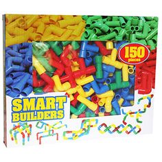 fantastic smart builders puzzle set with 150 interlocking pieces ...