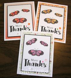 The Buzz: Butterfly thank you cards, featuring the Time to Bloom digi set from #FromTheHeartStamps Details on my blog. Click the pic!