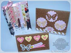 Card using paper flaps scrapbooking- cartão usando retalhos de papel