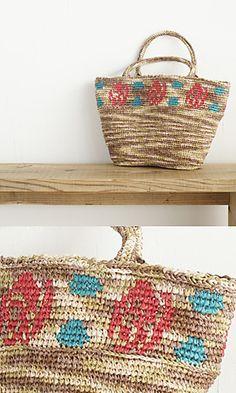 Ravelry: Amian Rose Bag pattern by Pierrot (Gosyo Co., Ltd)