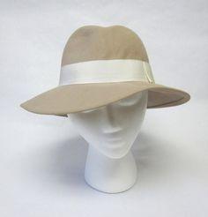 Light Brown Beige Hat Ladies Millinery Womens by sweetie2sweetie