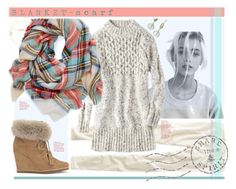"""""""Wrapped In Warmth."""" by s-elle ❤ liked on Polyvore featuring American Eagle Outfitters, Jennifer Meyer Jewelry, Dutch Basics, Cole Haan, Splendid, contest, contestentry and blanketscarf"""