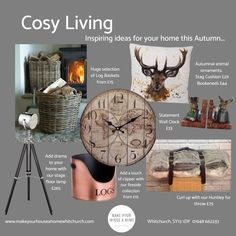 Autumn Window Display Retail, Stag Cushion, Copper Floor Lamp, Statement Wall, Cosy, Cushions, Inspiration, Throw Pillows, Biblical Inspiration