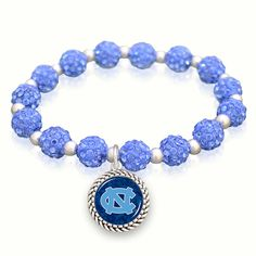 North Carolina Tar Heels Sparkle Stretch Bracelet, $9.98 // Bling it on!