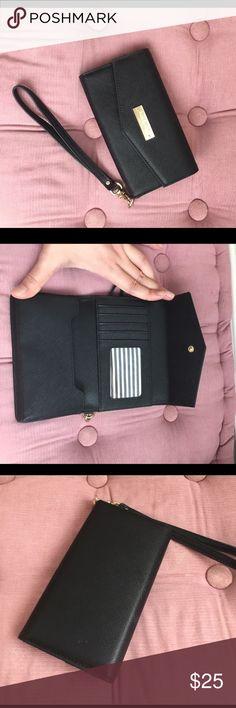 Kate Spade cellphone case + card holder Kate Spade cellphone case + card holder. New without tag. kate spade Bags Wallets