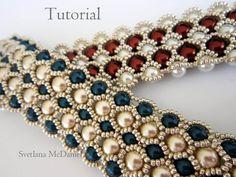PDF tutorial beaded bracelet 8mm 6mm pearl seed von BeadsMadness, $4.50