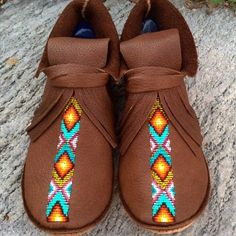 Awesome new moccasins by Lloree Dickens! View the collection now >> http://shop.beyondbuckskin.com/artists