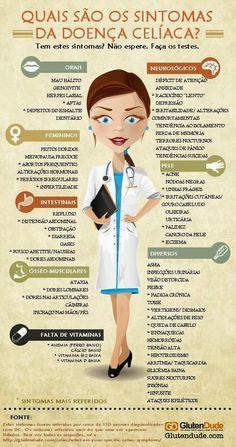 Sintomas da Doença Celíaca. Para saber mais, acesse…