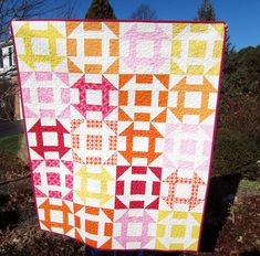 next to the nine-patch, I seem drawn to this churn dash quilt