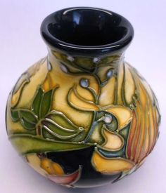 Beautiful Miniature Moorcroft Prairie Summer Vase by Rachel Bishop