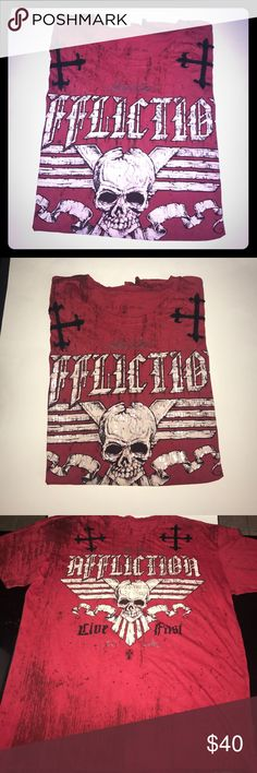 Men's Affliction Tshirt Good condition, size XL Affliction Shirts Tees - Short Sleeve