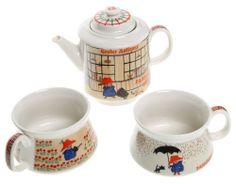 Paddington Bear Tea For Two Sets by Shinzi Katoh
