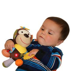 """Abu """"Silly Monkey"""" Teether & Plush Toy 