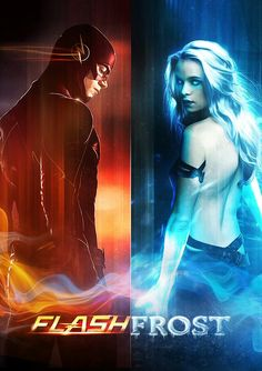 Flash Frost » Snowbarry » Barry Allen The Flash and Caitlin Snow Killer Frost » The Flash CW POSTER