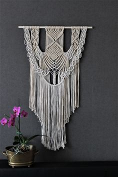 Macrame wall hanging, tapestry