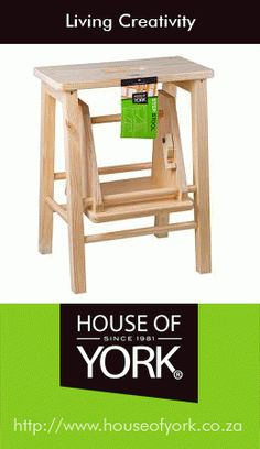 Is your dad a handyman around the house? We have a useful step stool at House of York that's perfect for those hard-to-reach places! Art Studio Decor, Studio Decorating, Decorating Ideas, House Of York, Kitchenware, Decorative Items, Home Goods, Bamboo, Stool
